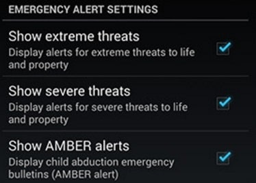 disable some Android Alerts