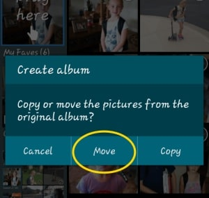 move photos to new albums