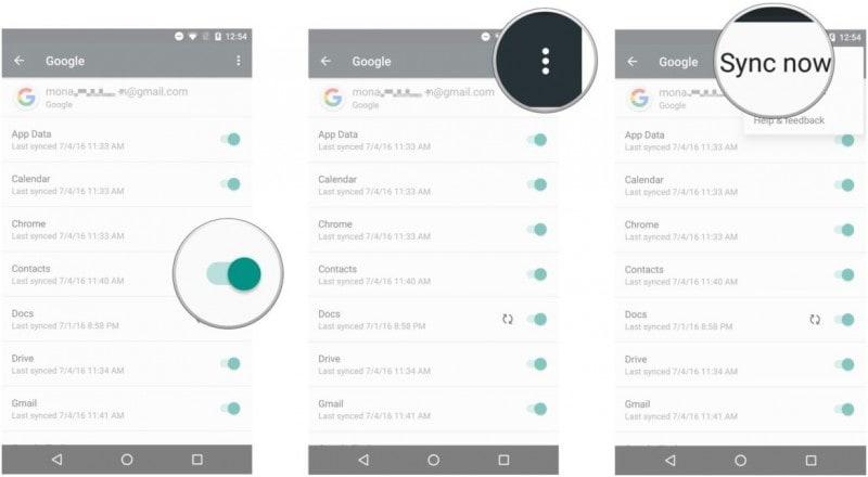 Kontakte mit Google Mail auf dem Samsung-Telefon synchronisieren