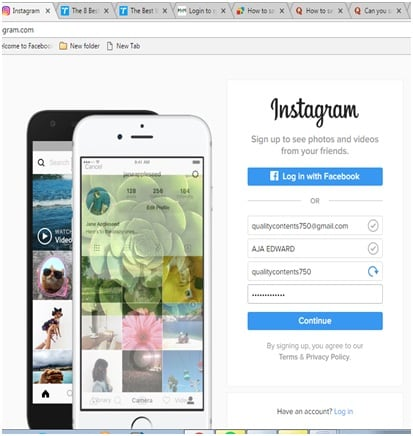 save instagram photos on android