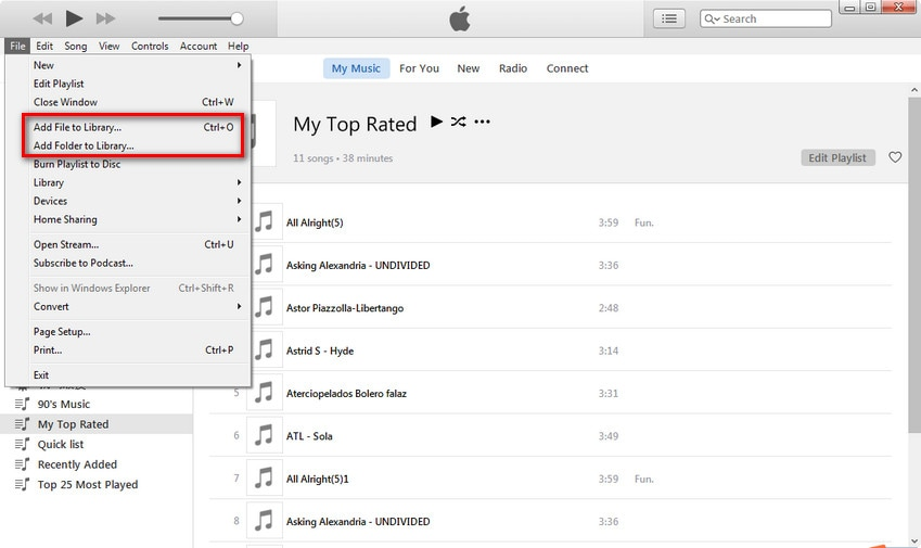 how to add music to itunes library