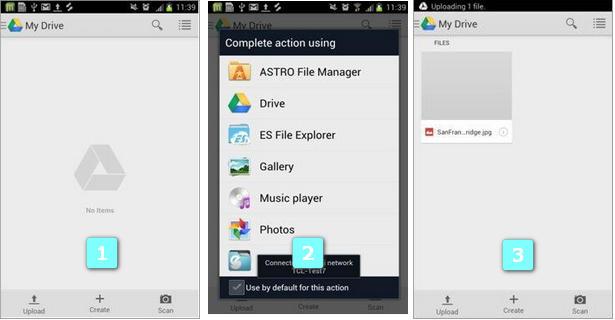 wifi-Dateiübertragung von Android auf Google Drive