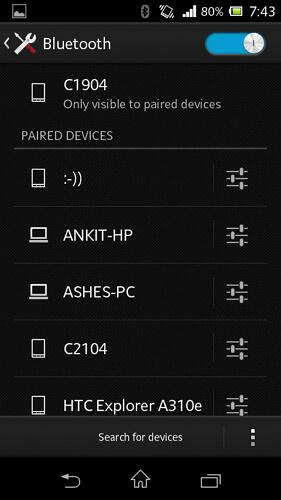 bluetooth management android