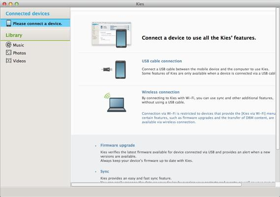 samsung kies mac not conenct