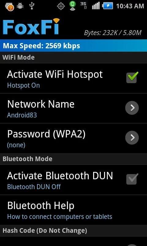 Free Wifi hotspot apps FoxFi