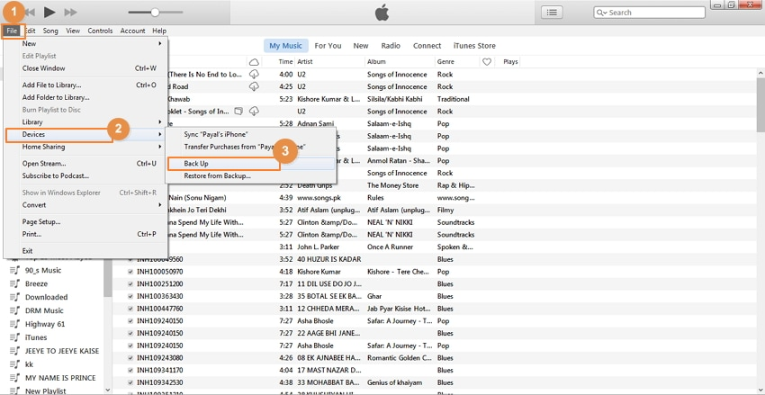 Group management for contacts with iTunes