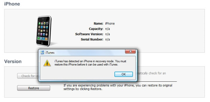 iphone stuck in recovery mode: issue detected