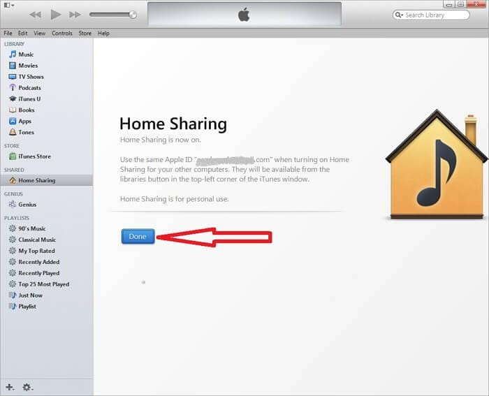 itunes home sharing-Turn On Home Sharing