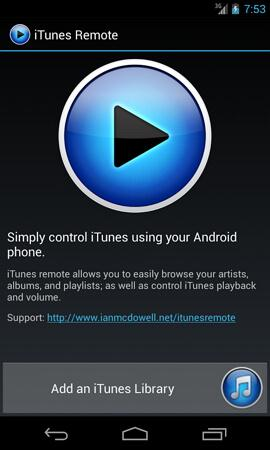 remote for itunes android