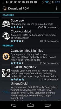backup rom android