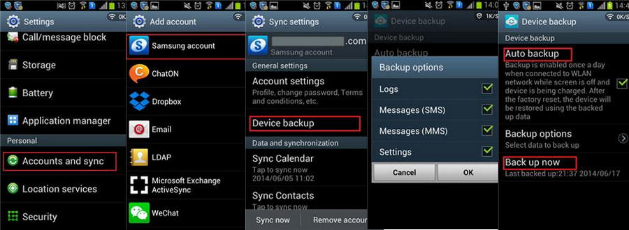 how to backup samsung and unroot Samsung