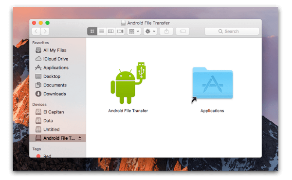 connect android to mac with Android file transfer