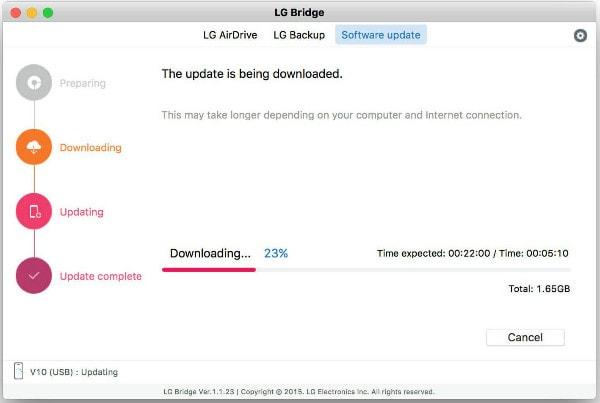 LG Bridge لنقل mac android