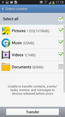 transfer music from android to android-send the music files via NFC