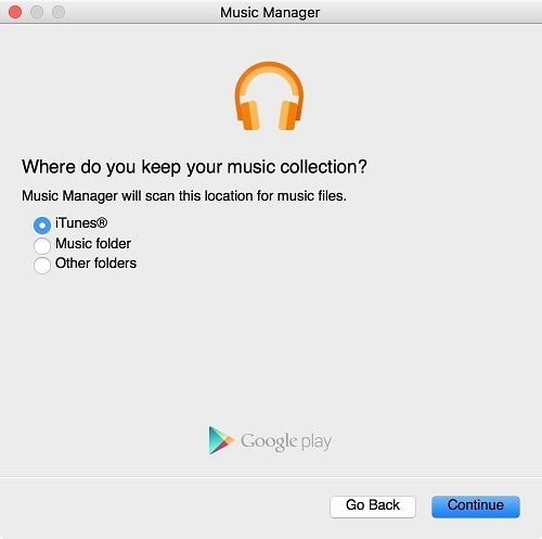 "transfer music from iphone to android-click on the ""Continue"" button"