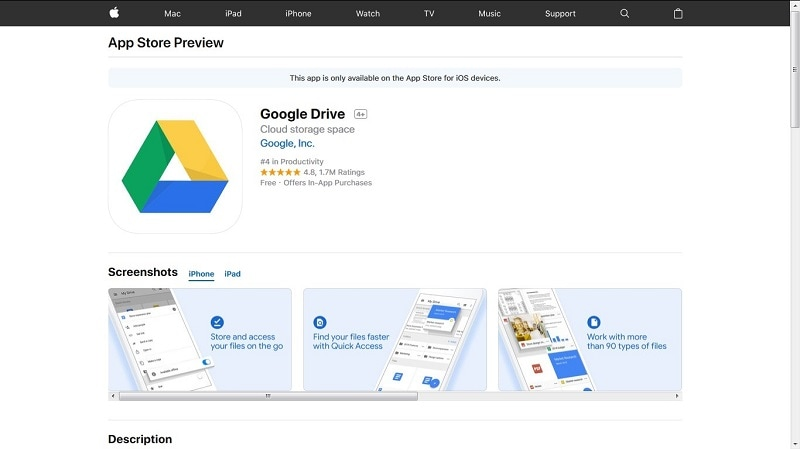 how to transfer photos from android to iphone-install the Google Drive app