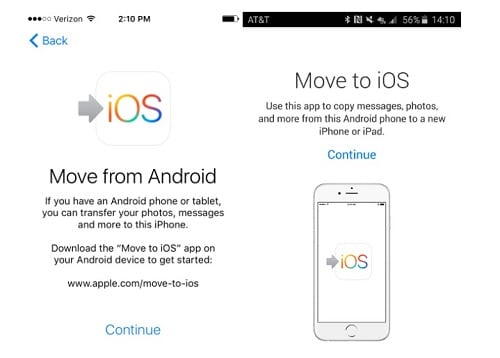how to transfer photos from android to iphone-move from android to ios