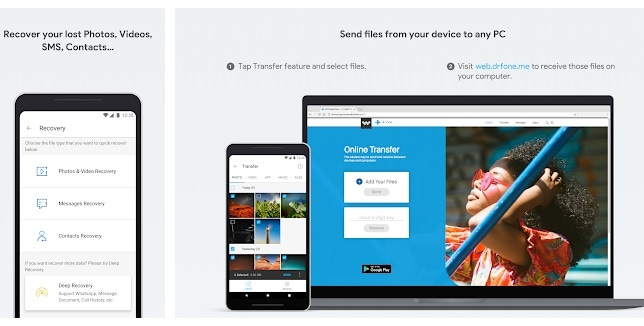 how to transfer photos from android to pc-Recovery Transfer wirelessly and Backup