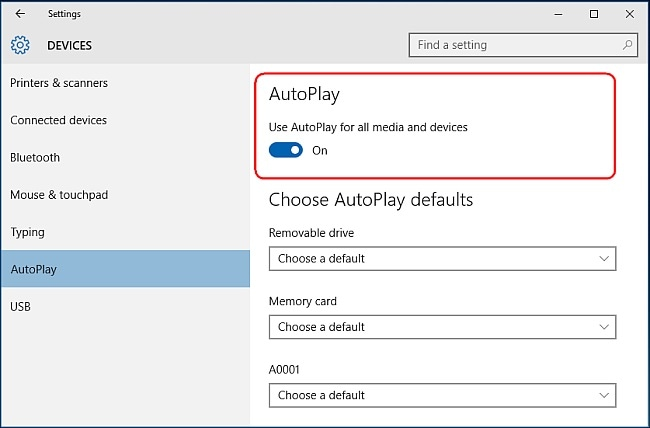 how to transfer photos from android to pc-turn on the AutoPlay feature