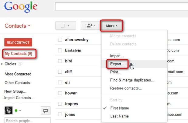 kontakte von samsung auf den pc übertragen - drücken Sie die 'Mehr'-Taste