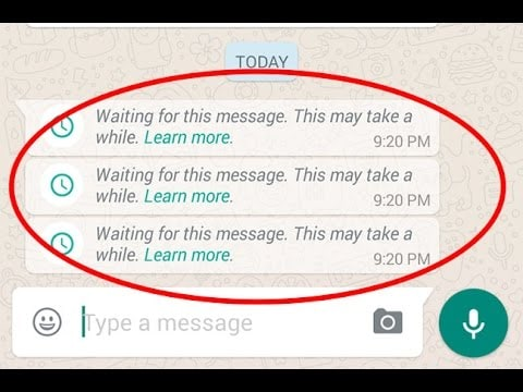 ios12whatsappproblems and solutions-show Waiting for This Message