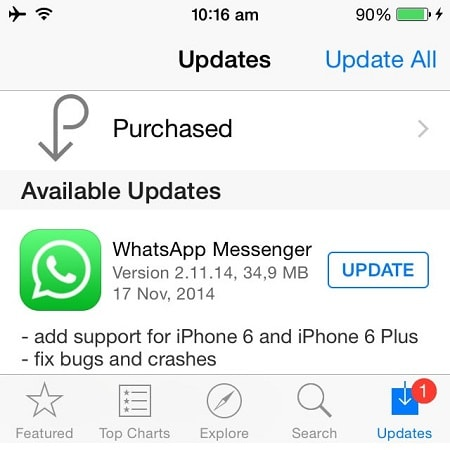 ios12whatsappproblems and solutions-Update WhatsApp