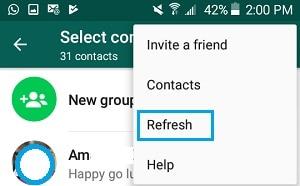 ios12whatsappالمشاكل والحلول - تحديث جهات الاتصال الخاصة بك