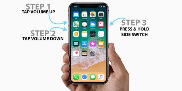 iphone stuck on apple logo ios-12-Force restart iPhone x