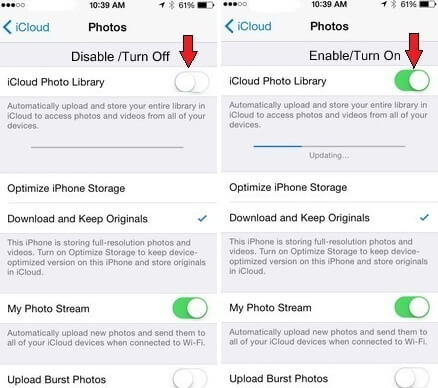 photosdisappeared afterios 12update-Reset iCloud Photo Library