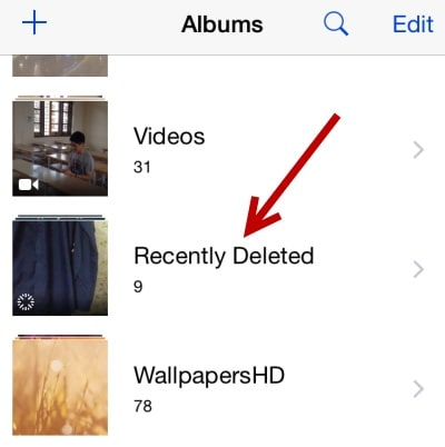 photosdisappeared afterios 12update-Recently Deleted folder