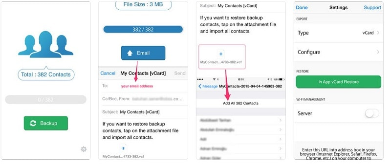 move contacts from iphone to android-email the contacts to your own Gmail account