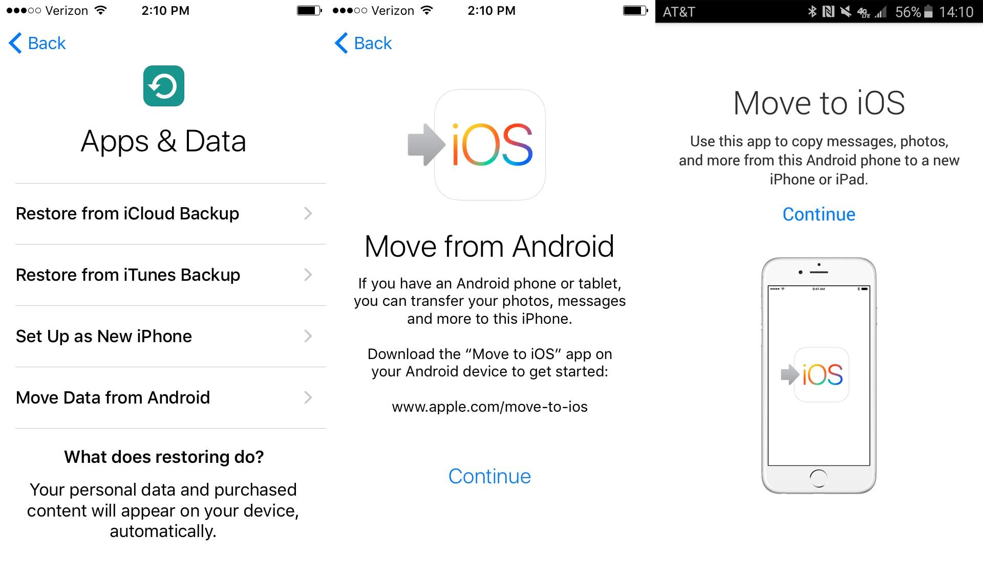 Übertragung von Samsung auf das iPhone - Daten von Android übertragen