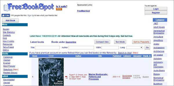 best torrent site for books - FreeBookSpot