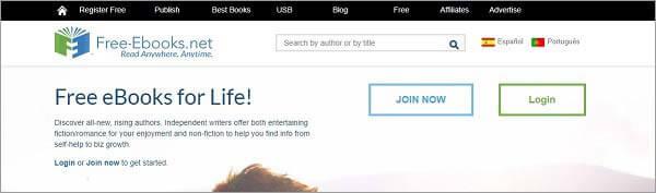 Beste Torrent-Site für Bücher - Free-ebooks.net