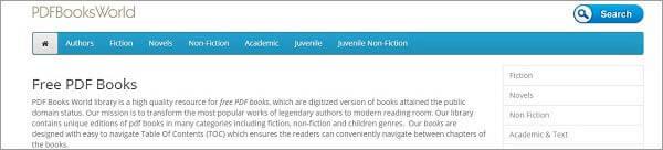 Beste Torrent-Site für Bücher - PDF Books World
