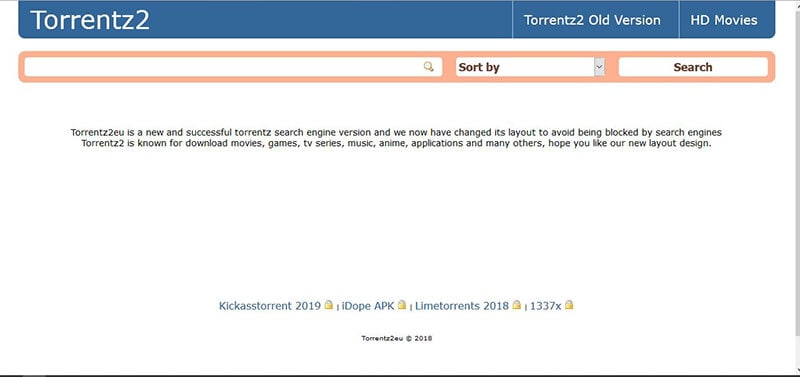 torrent movie sites - torrentz2
