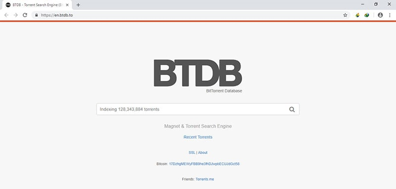 torrent search engine - btdb