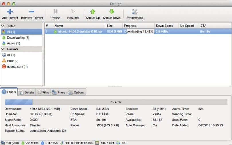 bittorrent client mac - Deluge