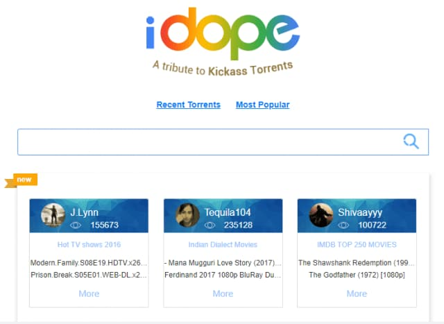torrent movie sites - idope