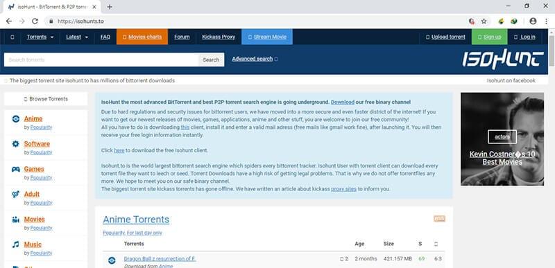 working torrent sites - isohunt