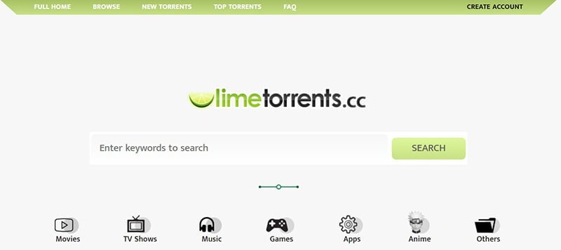 most popular torrent sites - lime torrents