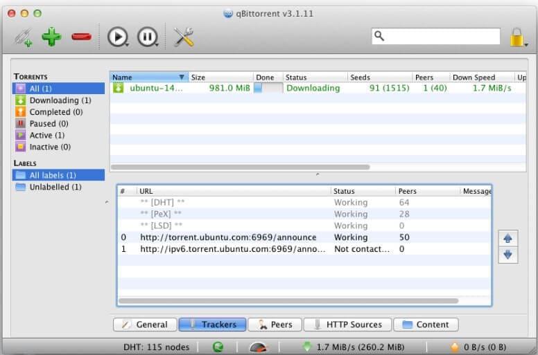 Online-Torrent-Downloader - qbittorrent