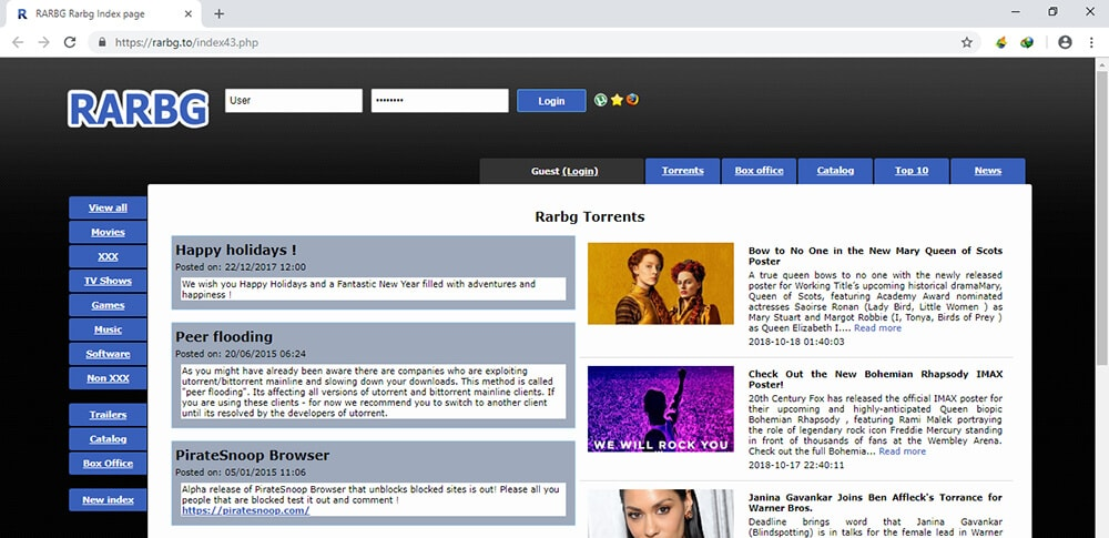 top torrent sites for software - Rarbg.to