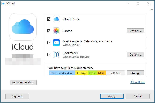 download icloud for windows