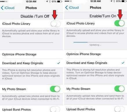 Überprüfen Sie die Mobilfunkdaten, um zu verhindern, dass iCloud-Fotos nicht synchronisiert werden