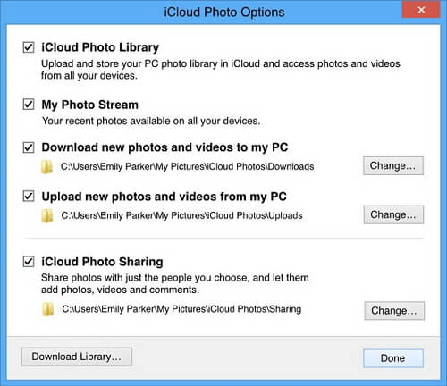 toggle off icloud photo library