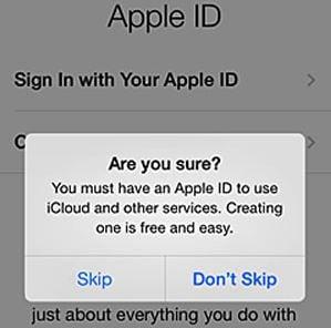 skip icloud settings process