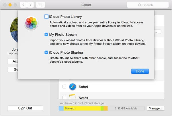 transfer icloud photos to Android on mac - step 1