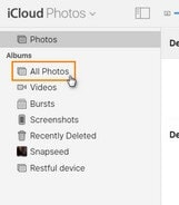transfer icloud photos to Android on mac - step 3