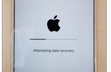 iPhone attempting data recovery